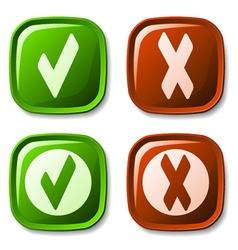 Check mark buttons vector