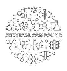 Chemical compound round outline vector