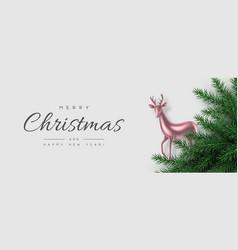 Christmas horizontal banner vector