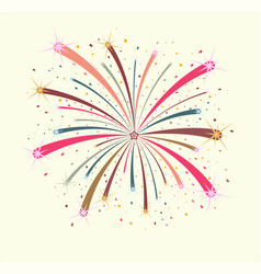 colorful firework on white background vector image
