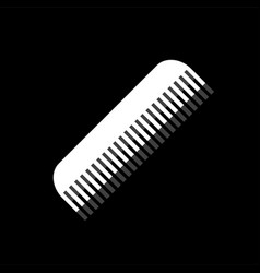 comb icon flat vector image
