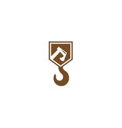 construction logo design template vector image