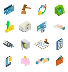 Credit icons set vector image