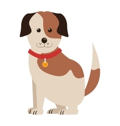 cute dog icon vector image