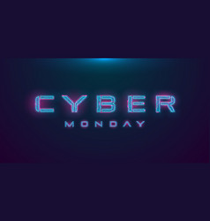 cyber monday sale hud hologram cyberpunk style vector image