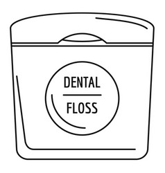 Dental floss icon outline style vector