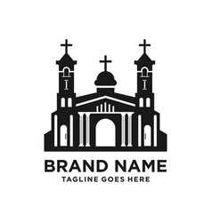design church building silhouette logo vector image