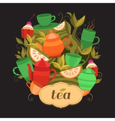 Design tea packaging vector image vector image