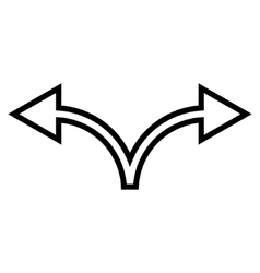 Divide Arrow Left Right Outline Icon vector image