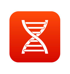 dna icon digital red vector image