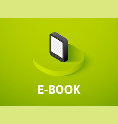 E-book isometric icon isolated on color vector