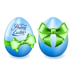 Easter egg with bow vector image