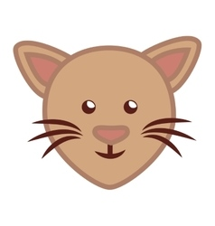 Face cat cartoon isolated icon vector