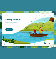 fishermans father and son vector image