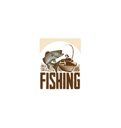 fishing hand drawn vector image