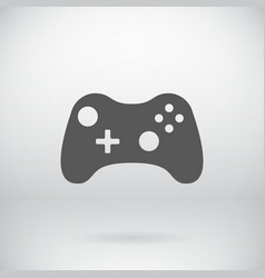Flat Gamepad Joystick Joypad Icon Symbol vector image