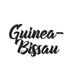 Guinea-bissau text design calligraphy vector