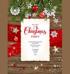 holiday winter card frame invitation vector image