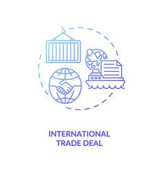 International trade deal concept icon vector