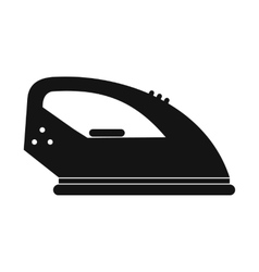 Iron black simple icon vector image