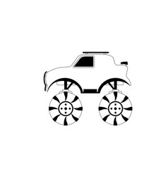 isolated racing truck icon vector image