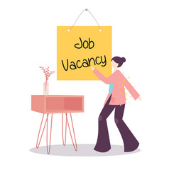 job vacancy announcement sign vector image