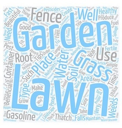 Lawn and Garden Simple Tips For Success text vector image