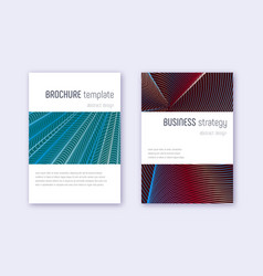 minimalistic cover design template set red white vector image