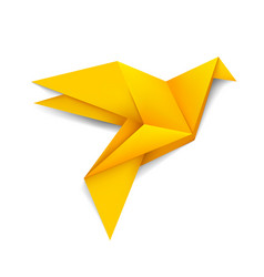 modern creative origami bird logo and icon vector image