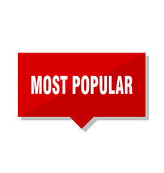 Most popular red tag vector