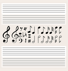 music notes and blank scales vector image