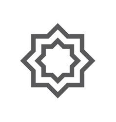 Muslim abstract symbol islamic vector