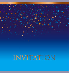 new year gold and blue star background vector image