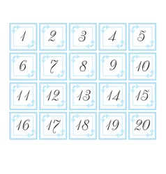 Number cards vector