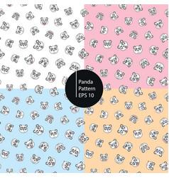 panda emoticons seamless pattern vector image