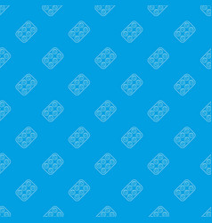 pills pattern seamless blue vector image