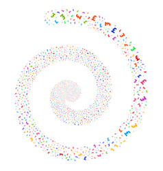Pound sterling fireworks spiral vector