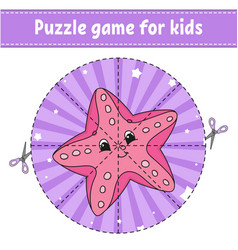 Puzzle game for kids education developing vector
