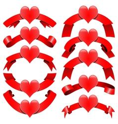Romantic decorative ribbons vector image