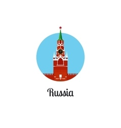 Russia landmark isolated round icon vector image