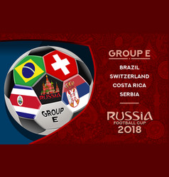 Russia world cup design group e vector