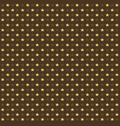 Seamless pattern with yellow and brown stars on vector