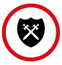 Security Shield Flat Rounded Icon vector