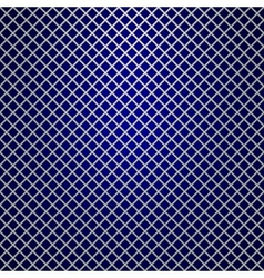 silver grille on blue background vector image