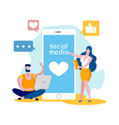 social media networking accounting internet chat vector image