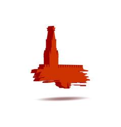 Spasskaya tower of kremlin in moscow vector