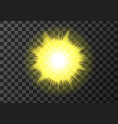 sun disk with rays weather meteo icon vector image