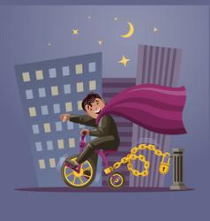 super hero boy vector image