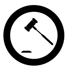 The judicial hammer the black color icon in vector