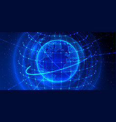 transfer element global planet earth point black vector image